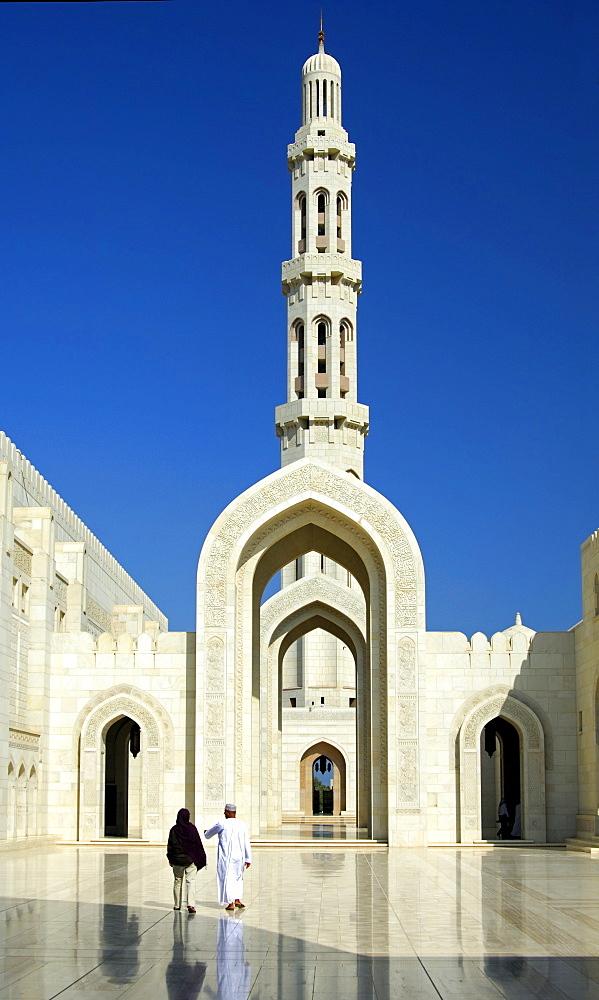 Minaret, Sultan Qaboos Mosque, Muscat, Sultanate of Oman