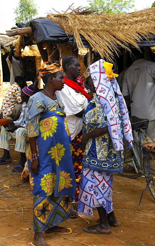 Women on a local market, Burkina Faso