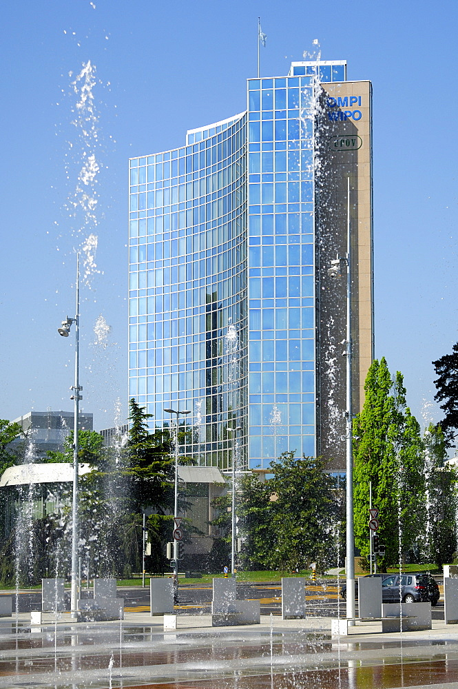 Headquarters of WIPO, UPOV, Square of Nations, Place des Nations, Geneva, Switzerland