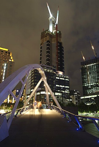 Bridge above the Yarra river, Victoria, Melbourne, Australia
