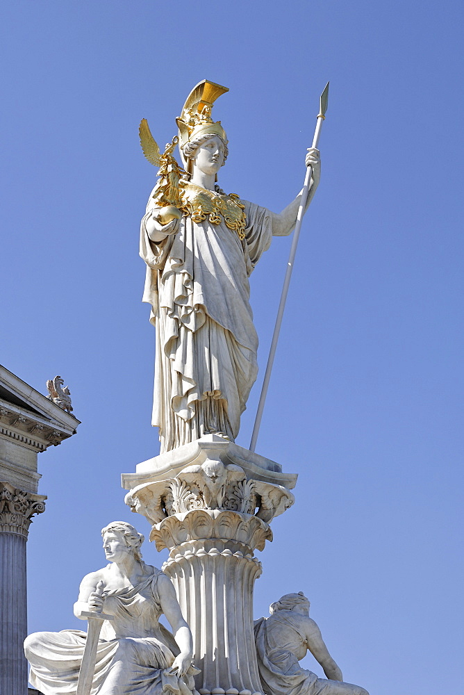 Palas Athene Monument in front of the Parliament, Vienna, Austria, Europe