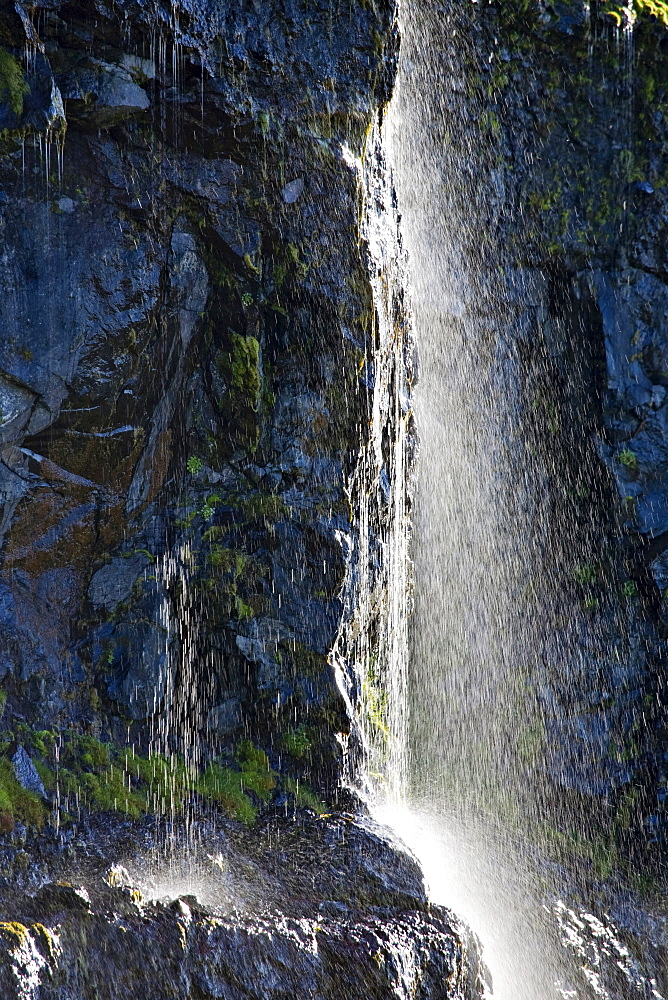 Row of waterfalls, Snaefellsness Peninsula, Iceland, Atlantic Ocean
