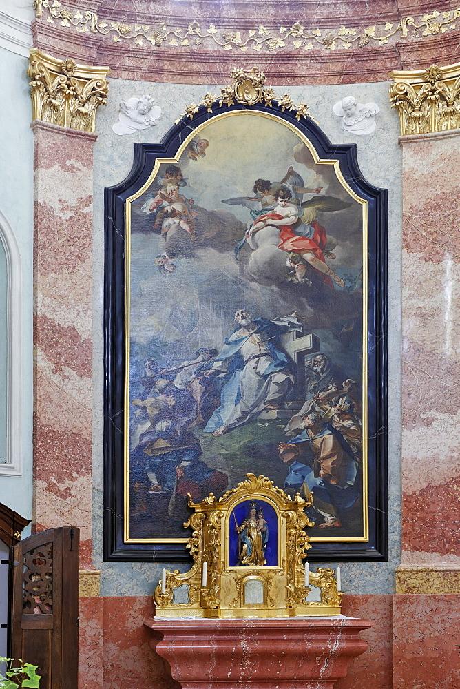 Altar and Turkish Madonna, Mariazell Cloister, Klein-Mariazell, Triestingtal (Triesting Valley), Lower Austria, Austria, Europe
