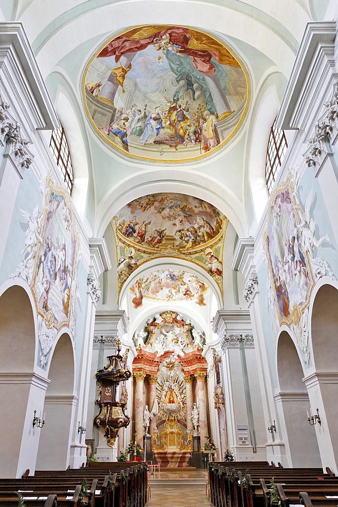 Interior view, Mariazell Cloister, Klein-Mariazell, Triestingtal (Triesting Valley), Lower Austria, Austria, Europe
