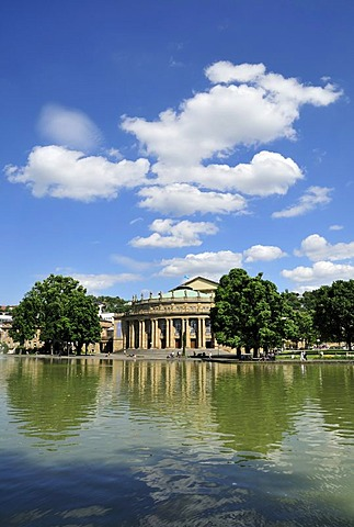 Staatstheater, National Theatre, locally known as Grosses Haus, Large House, Stuttgart, Baden-Wuerttemberg, Germany, Europe