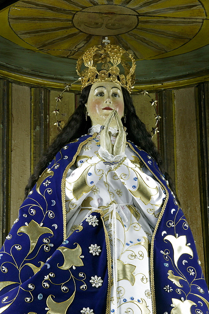 Madonna in the Franciscan Church in Tobati, Paraguay, South America