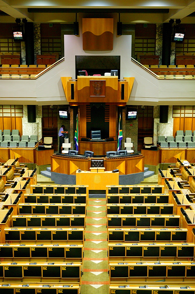 Part of the big Parliament hall, Cape Town, South Africa