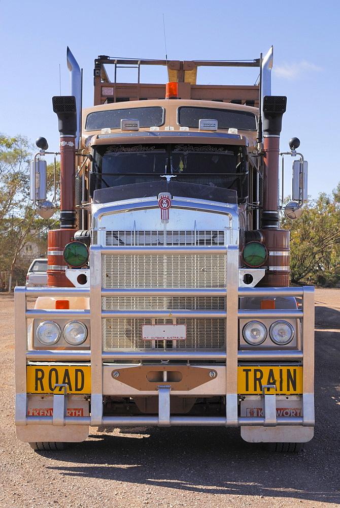 Road Train, Road House on Highway 87 at Glendambo, South Australia, Australia