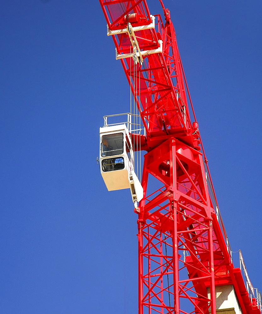 Construction crane, red