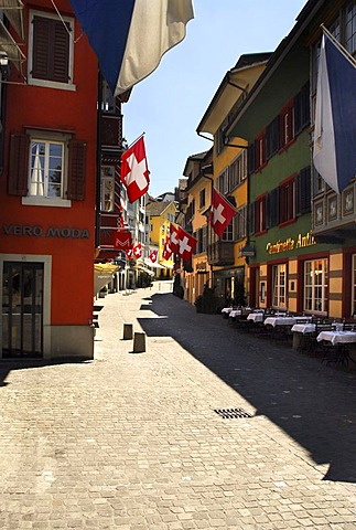 Augustiner Gasse, alley, Zurich, Switzerland, Europe