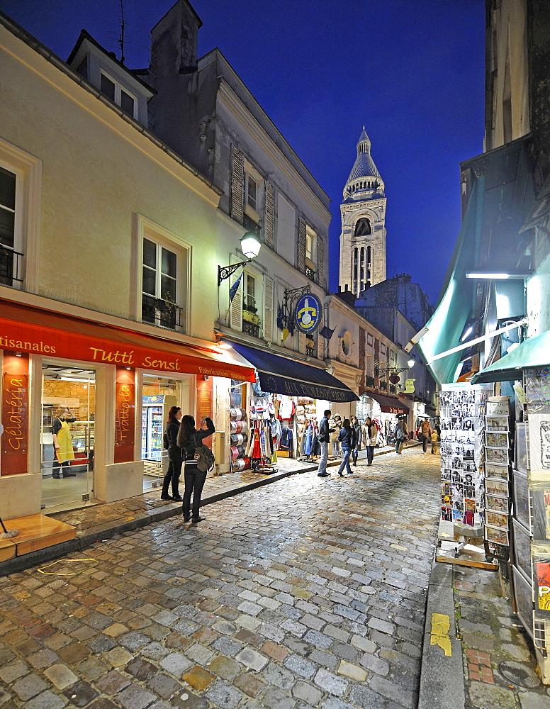 Montmartre district, Basilique du Sacre-Coeur, Sacre-Coeur Basilica (back), Montmartre, Paris, France