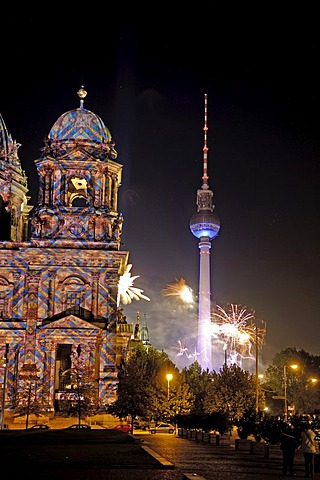 Berlin dome at festval of lights, Berlin, Germany