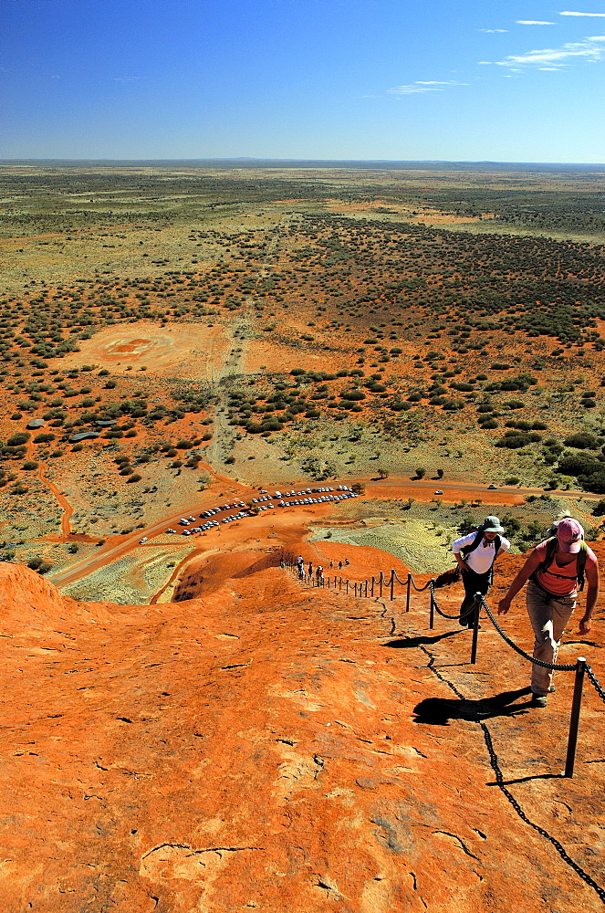 View from the top of ayers rock, uluru, Northern territory, australia