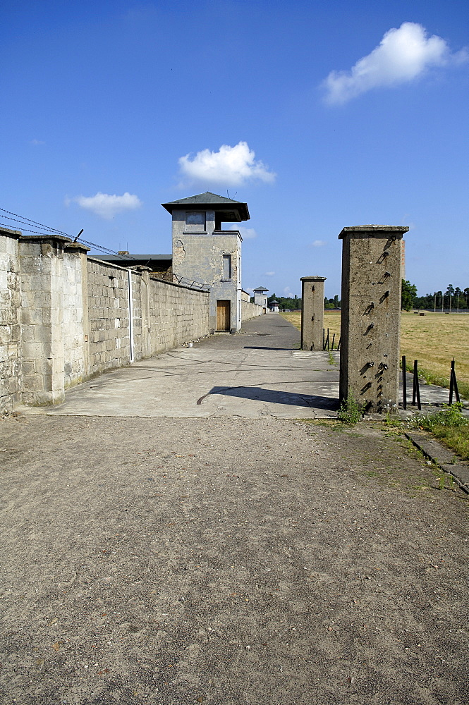 Border line of concentration camp sachsenhausen, germany