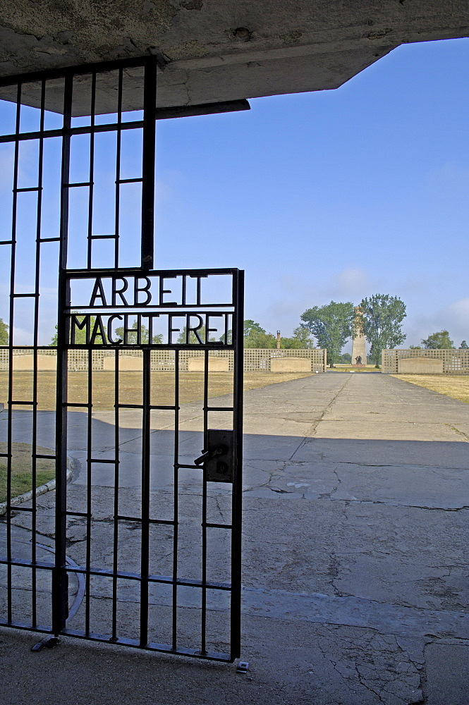 Gate of concentration camp sachsenhausen, germany