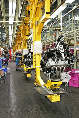 Production, BMW motorcycle factory in Berlin, Germany