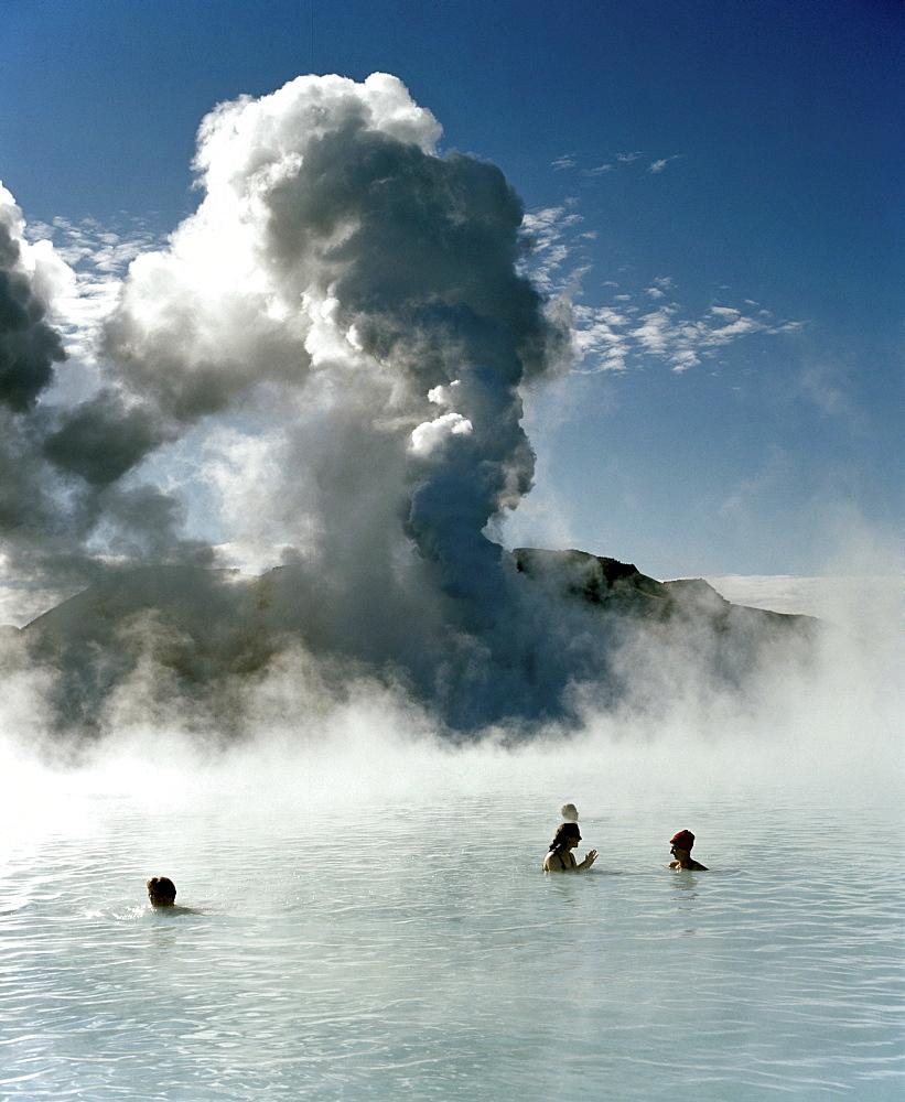 Blue lagoon, hot springs near Grindavik, Reykjavik, Iceland