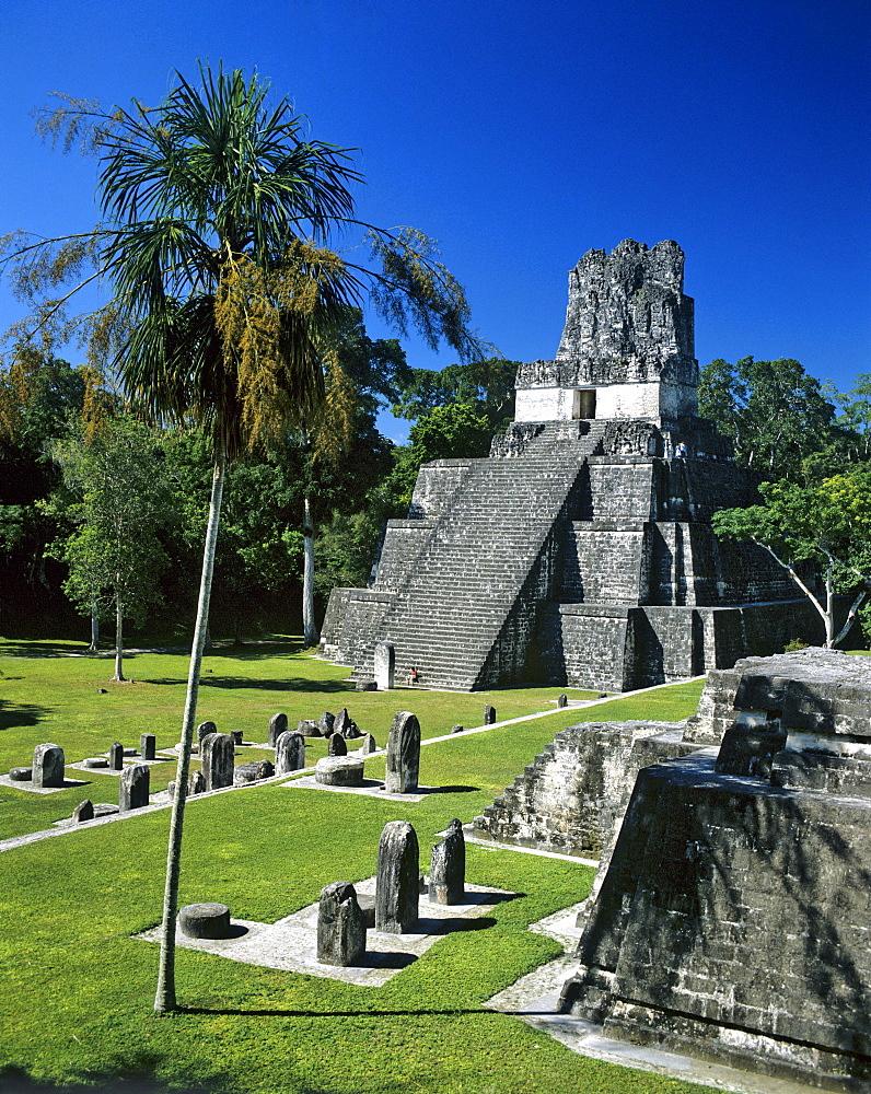 Temple ruins of Tikal, Maya pyramid, Guatemala, Guatemala, Central America