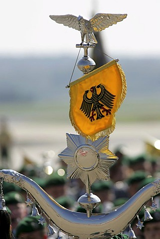 Wachbataillon (Guard battalion) of the German Bundeswehr, airport Cologne-Bonn, North Rhine Westphalia, Germany