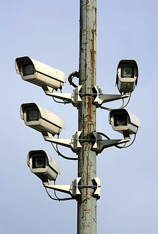 DEU, Germany, Huenxe: Surveillance cameras, CCTV