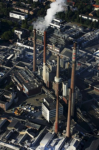 Henkel plant, chemical factory, Duesseldorf, North Rhine-Westphalia, Germany