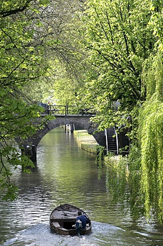Oude Gracht in the old part of town, Utrecht, Netherlands