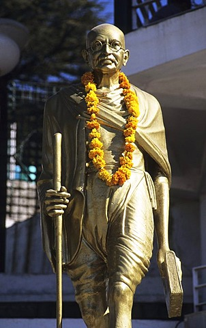 Gandhi statue, Shimla, Himachal Pradesh, India