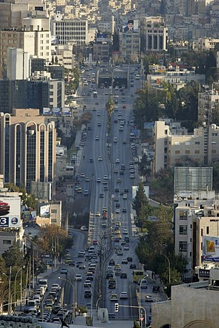 JOR, Jordan, Amman: City Center, Business district, Zahran district. Al Hussein Bin Ali Street, Jebel Amman. |