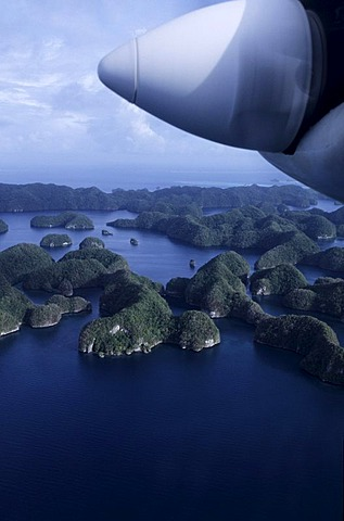 Rock Islands, flight over islands, Palau, Micronesia