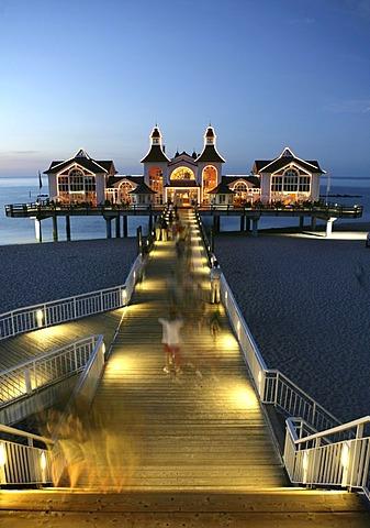 Ocean bridge, Baltic Sea resort Sellin, Island of Ruegen, Mecklenburg-Western Pomerania, Germany