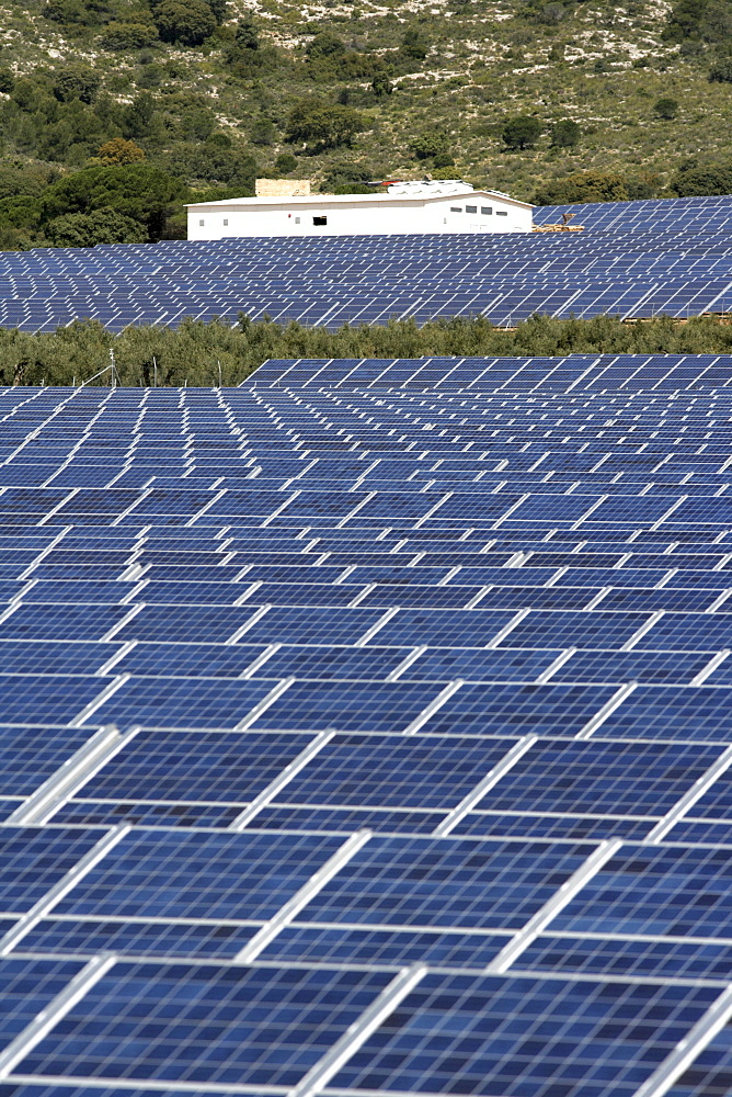 ESP, Spain, Beneixama: Solar power station, built by the german City-Solar-Group