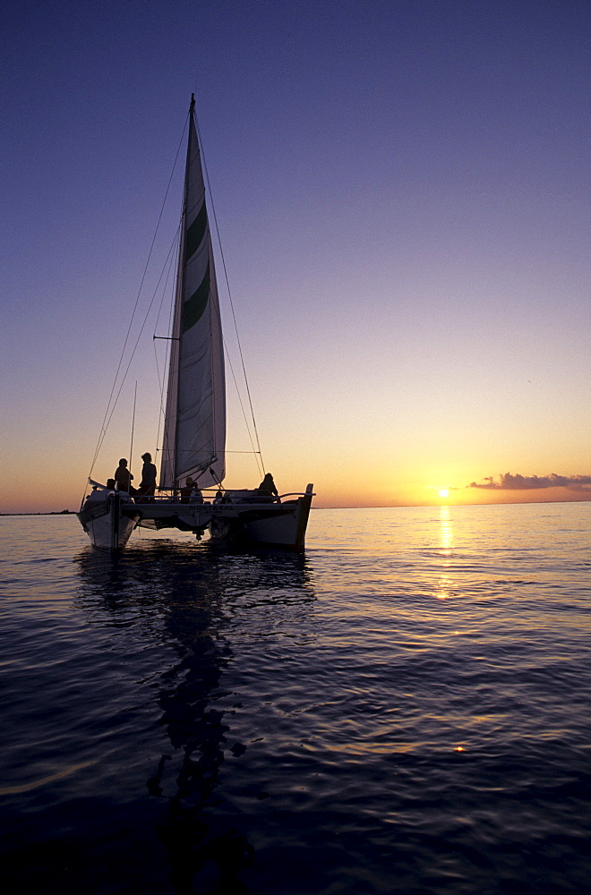 "Sailing trip with the catamaran ""Beluga"" sunset Turks and Caicos Islands Bahamas Caribbean"