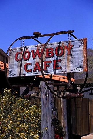 USA, United States of America, Arizona: Sign of a bar near Tucson.