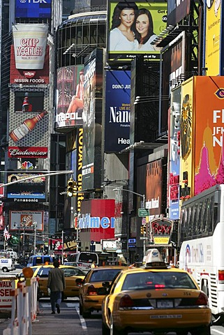 USA, United States of America, New York City: Times Square.