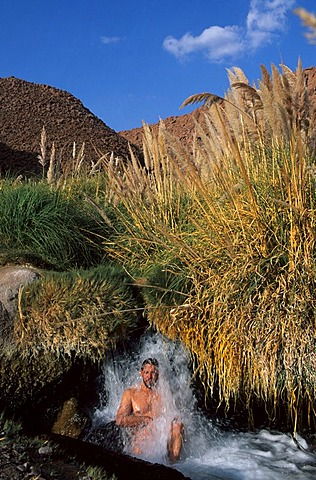 CHL, Chile, Atacama Desert: the hot springs of Puritama, 3000 metres high.