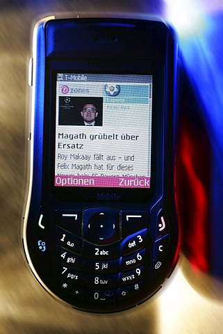 DEU, Federal Republic of Germany : Mobil phone with UMTS technology.