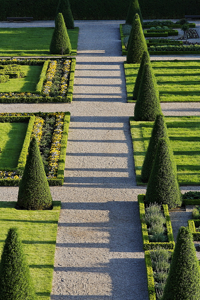 Terrace Garden, Kamp Abbey, reconstructed baroque garden, Kamp-Lintfort, Lower Rhineland, North Rhine Westphalia, Germany, Europe
