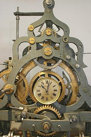 Clockwork of a historic turret clock