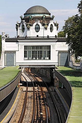 Court pavillon Hietzing, imperial urban railway station, Schoenbrunn, Vienna, Austria