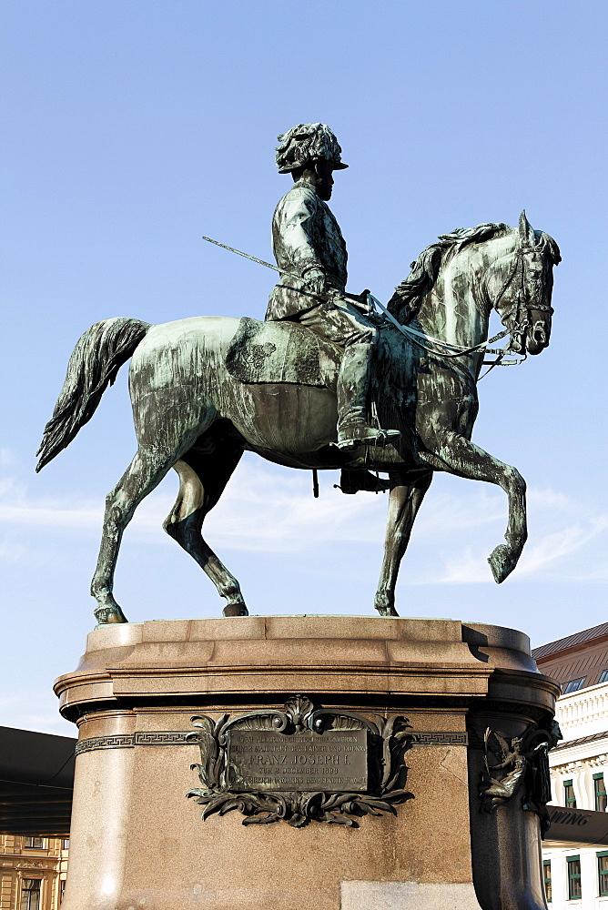 Equestrian monument, emperor Franz Joseph I, Albertina, Vienna, Austria
