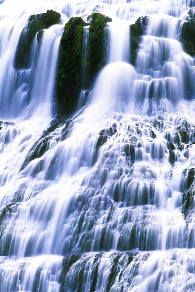 Dynjandi Waterfall, Iceland, Atlantic Ocean