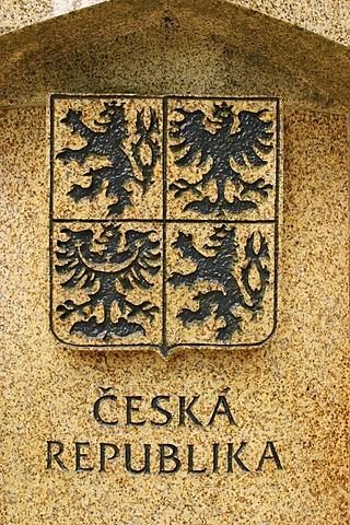Boundary-stone, landmark at the border between Germany, Austria and Czechia