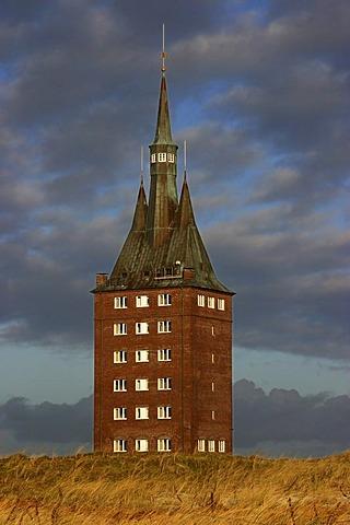West Tower, landmark of the Island, Wangerooge, Lower Saxony, Germany