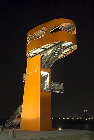 View Point tower at Hamburg Cruise Center at Grasbrook in Hamburg, Germany
