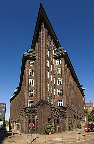 Chilehaus in downtown Hamburg, Germany