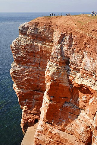 Heligoland - a view over the red sedimentary rock - Schleswig-Holstein, Germany, Europe.