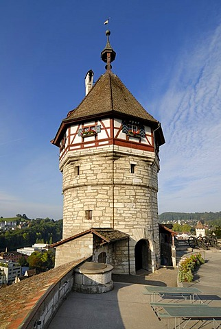 Schaffhausen - the tower from the munot castle - Switzerland, Europe.