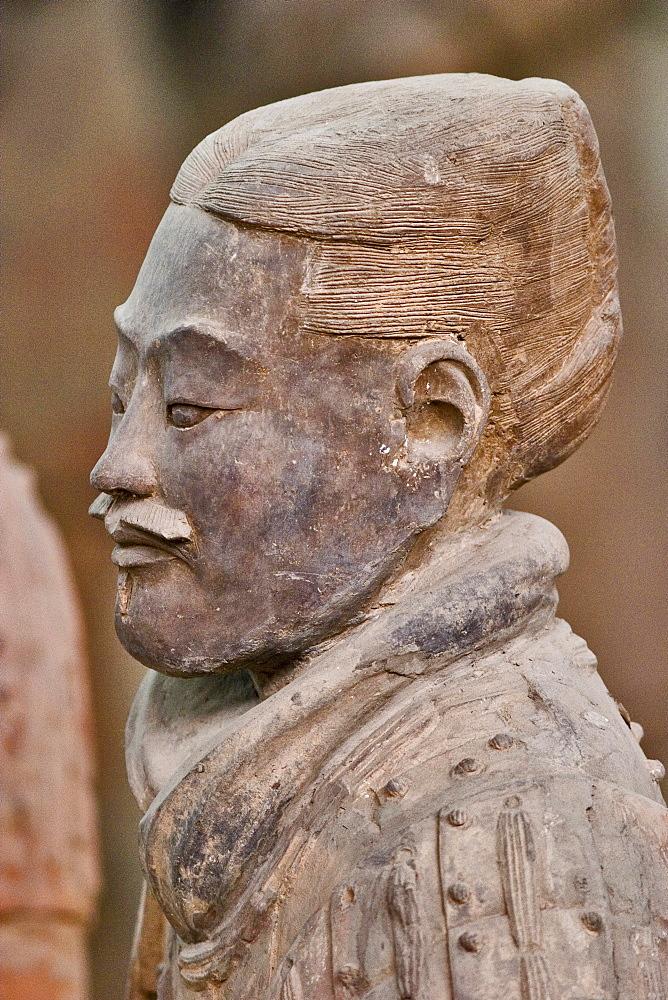 Terra-cotta army, mausoleum of Emperor Qin near Xi'an, Shaanxi, China