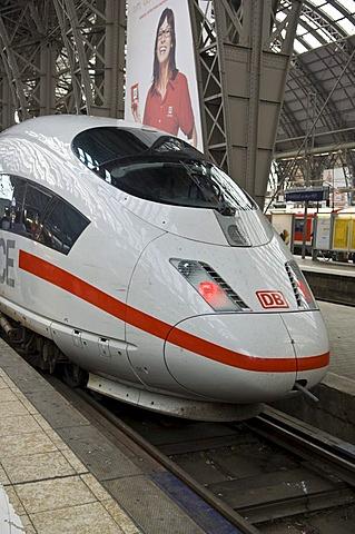 ICE, main station, Frankfurt, Hesse, Germany