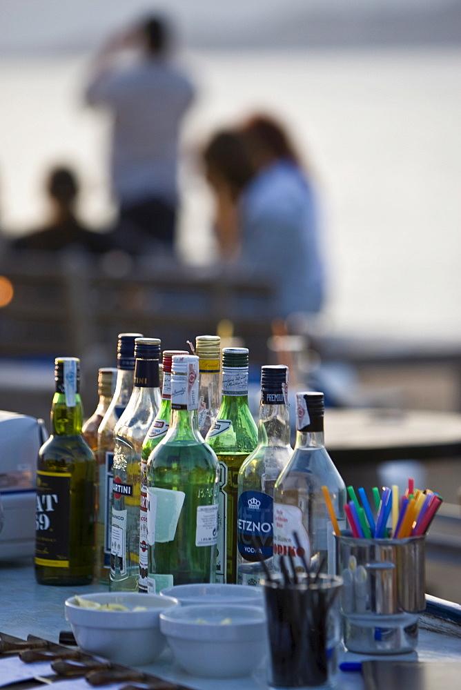 Beach bar, Cap de Falco, Ibiza, Balearic Islands, Spain
